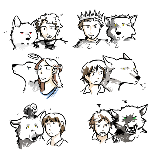 thameofgroans:  stark kids and wolves