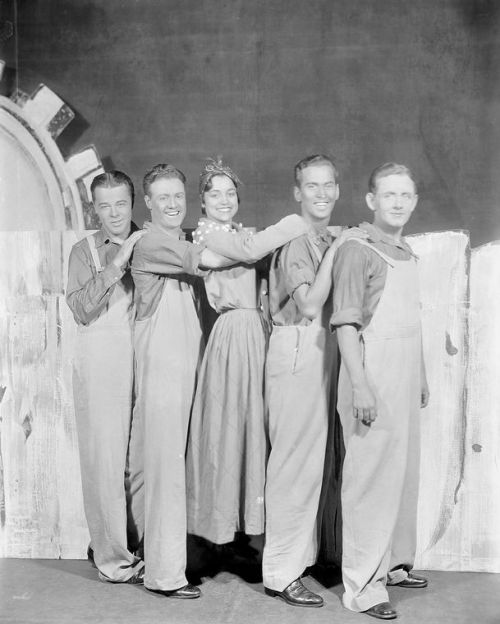 "June Cochran (center) featured in the ""Garrick Gaieties,"" 1930"