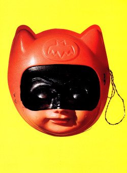 heyoscarwilde:  Japanese Batman children's mask circa 1967 :: scanned from Chip Kidd's Bat-Manga :: Pantheon Books :: 2008