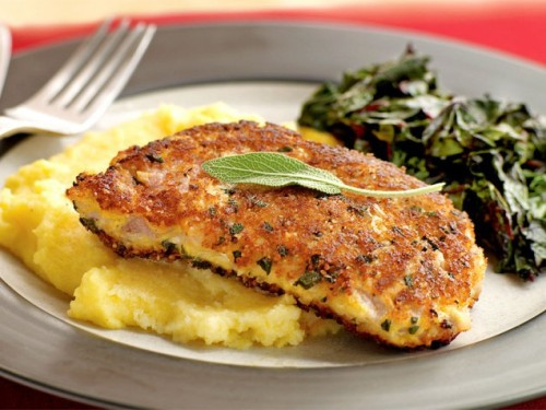 Parmesan and Sage–crusted Pork Chops Get the recipe!