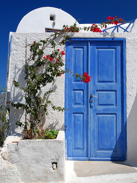 Blue door by MarcelGermain on Flickr.