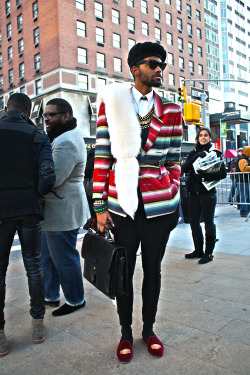blackfashion:  His Twitter. His Tumblr. [NYFW Street Style.]