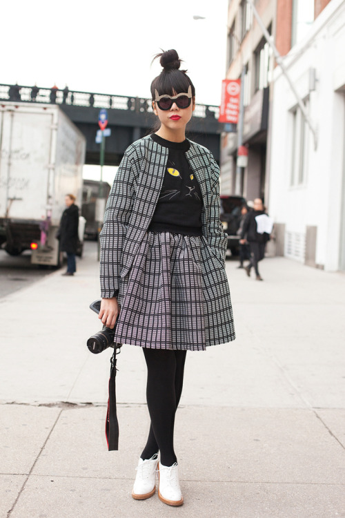 Internet It girl Susie Bubble is one of our best-dressed bloggers of NYFW. Check out more street style action here »