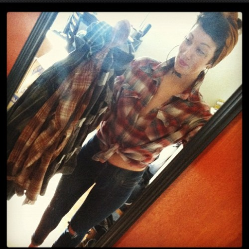 lonewolvess:  Flannel madness!  (Taken with instagram)