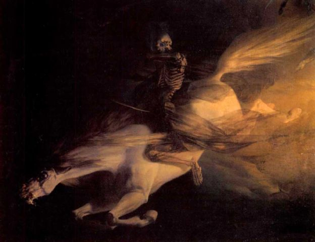 metalonmetalblog:  Edouard Ravel de Malval Death on a Pale Horse 19th cent.