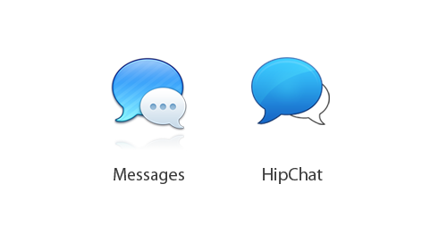 "They may just be chat bubbles, but they're our chat bubbles     To people that say ""whatever man, they're just chat bubbles"", I don't disagree with you. It's a common logo concept, even for services that have nothing to do with chat. They may just be chat bubbles, but they're our chat bubbles. They're on our products, the banner hanging in our office, and the t-shirts we wear every day.   I commend HipChat for taking the high road here. Yes, chat bubbles as a visual metaphor have been around for ages, but I have yet to see two that are such a precise match in regard to layout and color. HipChat is not blaming Apple of anything, they're simply posting about a problem they now face and providing transparency into how they intend to fix it."