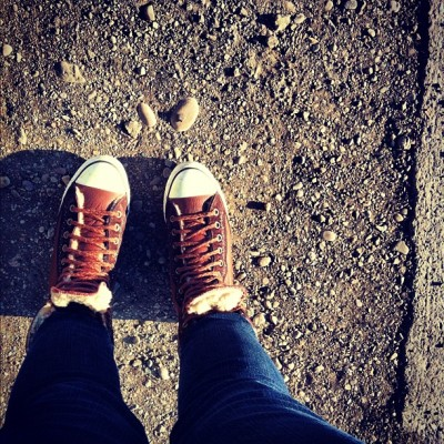 Winter Chucks (Taken with instagram)