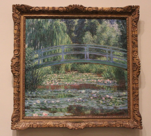 Claude Monet. Japanese Footbridge and the Water Lily Pool, Giverny. 1899. Oil on canvas 35 1/8 x 36 3/4 inches. Philadelphia Museum of Art, European Painting before 1900, Johnson Collection.