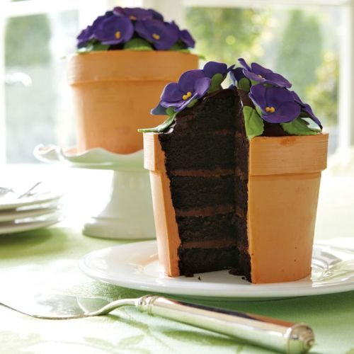 gastrogirl:  blooming flower pot cake with caramel truffle filling.  This is amazing!