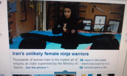 Iran why are you teaching your women ninjitsu?