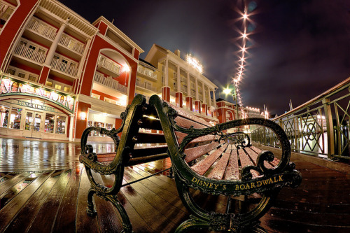 Rainy Night on The Boardwalk (Fisheye Friday #26) by Brendan Meier on Flickr.