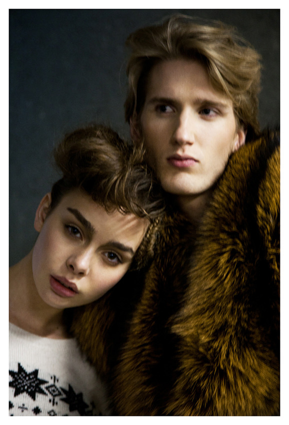 Josine @ Fresh models and Mitch @ Tony Jones Model Managementshot by: Humphrey Khouwstyling: Yannick Kranstauberhair and make-up: Tynke Jeeninga fur by Hyun Yeu (ADO LES SCENTS)