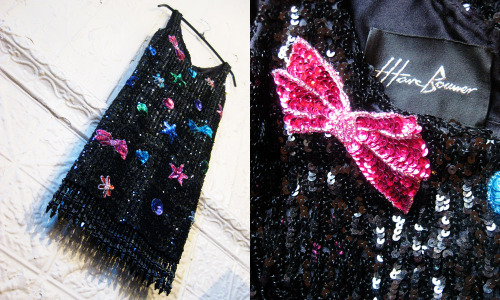 Marc Bouwer sequin/beaded mini dress from the estate of Whitney Houston. This amazing couture dress was designed for Whitney Houston in the early 90's! Only wish we had a photo of her wearing it. RIP Whitney!