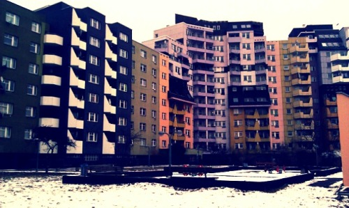 70s mass housing at Kottbusser Tor, last week.