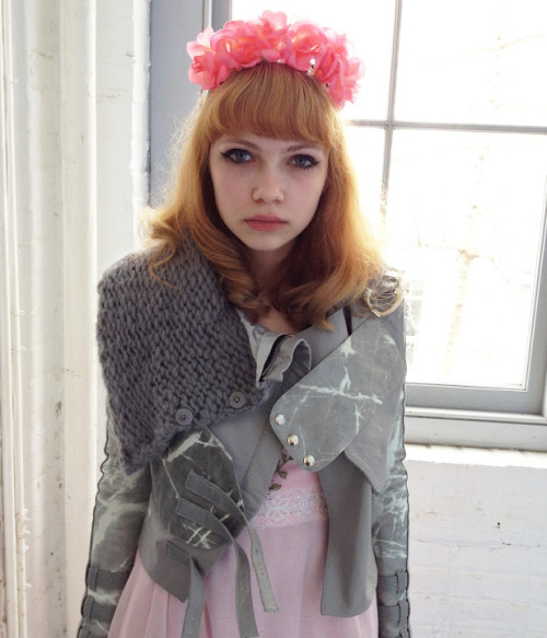 Babe In Toyland: Tavi Gevinson backstage at the Rodarte F/W 2012 show.
