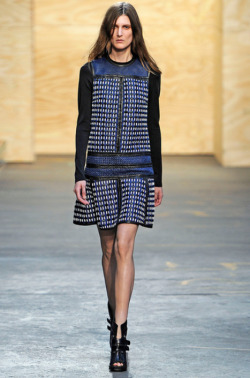 Rodarte Fall Winter 2012: this dress underneath the Calvin Klein coat? yes. I think these two pieces would go well together.  photo courtesy of The Cut