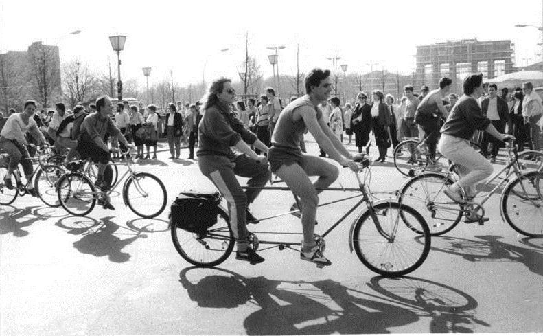 The bicycle culture in Berlin has been strong from the 90s and has only grown since.