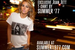 New Joan Jett Limited Edition T-Shirt By Brad Elterman (Starring Me!) Check out the full gallery on Buzznet!
