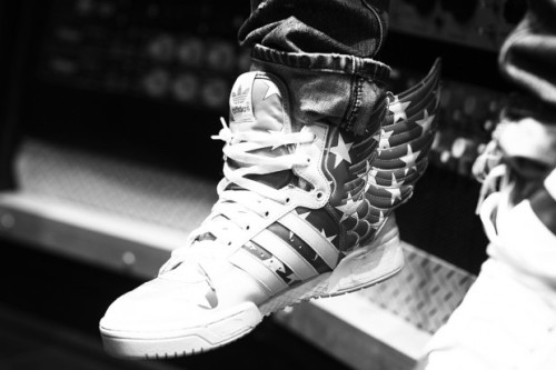 A$AP Rocky in Adidas Jeremy Scott Wings 2.0!!! Come get yours at Exclucity while you can.