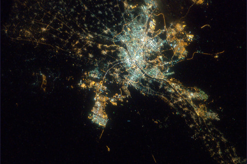 g4nim4:  Cairo, Egypt. View from the International Space Station