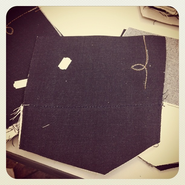 Every back pocket is marked and sewn by hand. #handmade #losangeles #lasso #signature #denim (Taken with instagram)