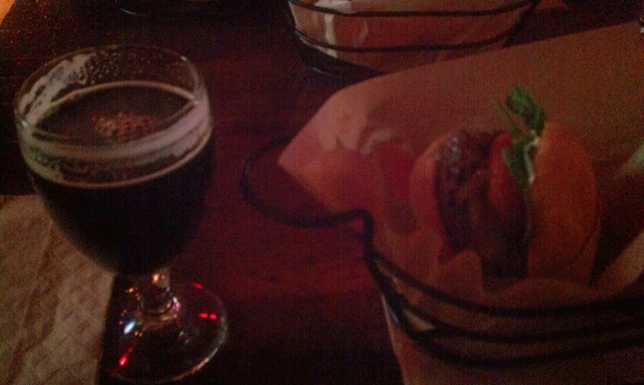 Rib eye burg + Victory Storm King (Imperial Stout, 9.10% ABV) at Congregation Ale House