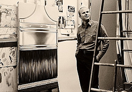 James Rosenquist in his studio, 1964.   Smithsonian