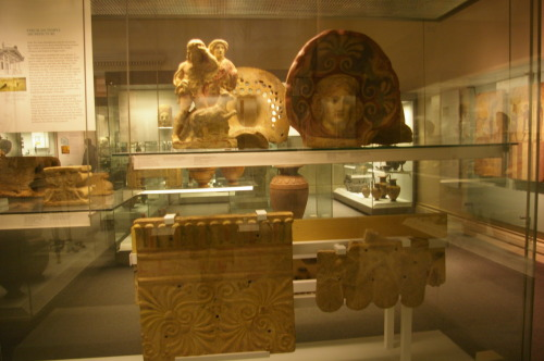 One of the display cases, British Museum