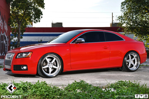 K3 Projekt Wheels Audi S5 mounted on Projekt1's 20X9 & 20X11. More photos coming soon at www.k3projekt.com Enjoy!