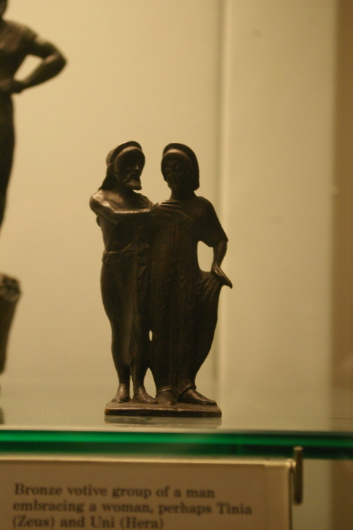 Votive of Tinia and Uni?  Bronze, British Museum