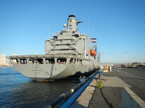 The USNS Henry J Kaiser from the pier at North Island Air Station/Coronado Naval Base