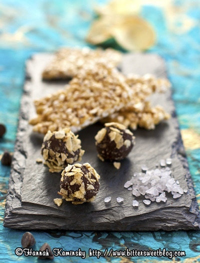 Potato Chip Truffles and Buttery Popcorn Brittle by Bitter-Sweet- on Flickr.nom