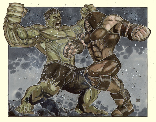 Hulk vs Juggernaut Comic Art Commission by Rich Hennemann  NUFF SAID!! Comic Art What do you guys think?