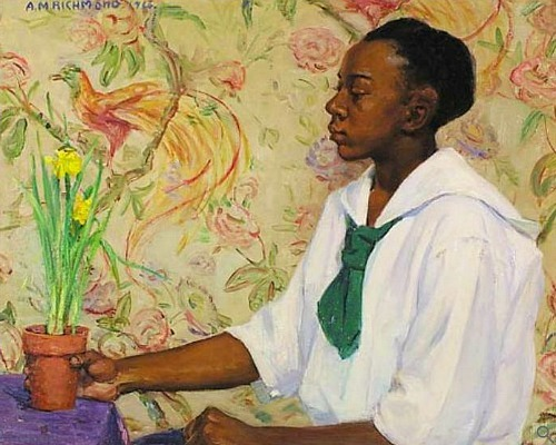Agnes Richmond Young Girl with Daffodils 20th century
