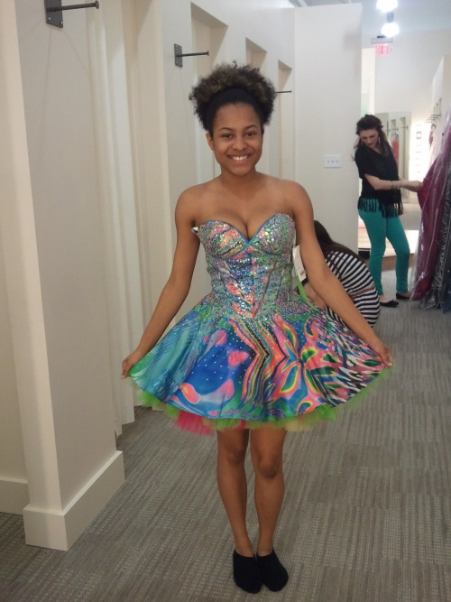 I went prom dress shopping and found this. Isn't it cute!?