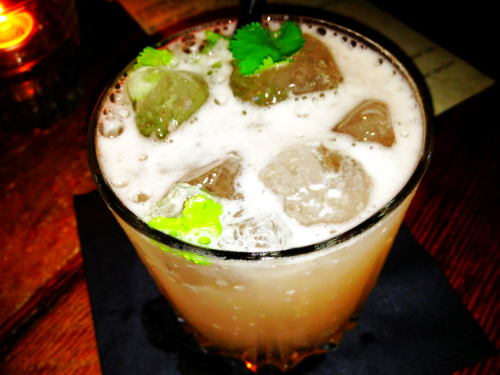 Outlaw @oldfields_bar: Milagro Reposado Tequila, cilantro, jalapeño honey, grapefruit, lime