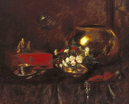 William Merritt Chase Still Life: Brass Bowl 1903