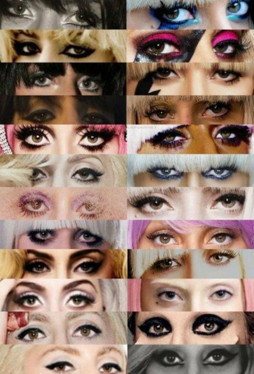 Lady Gaga evolution Eyes