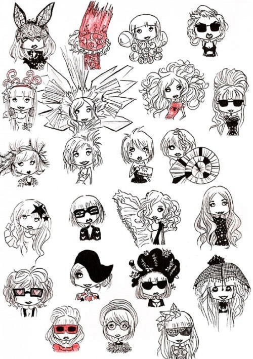 Funny Lady Gaga cartoons