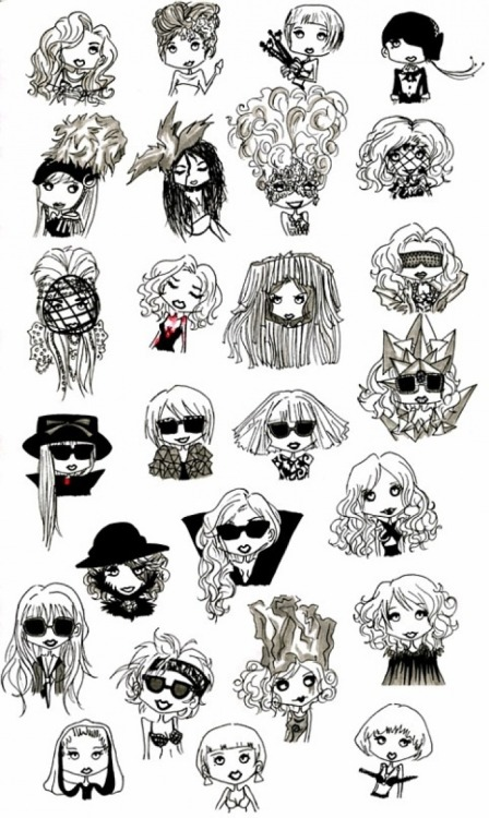 Lady Gaga funny Cartoon's