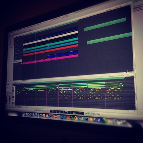 A little sneak peak at this next track  (Taken with instagram)