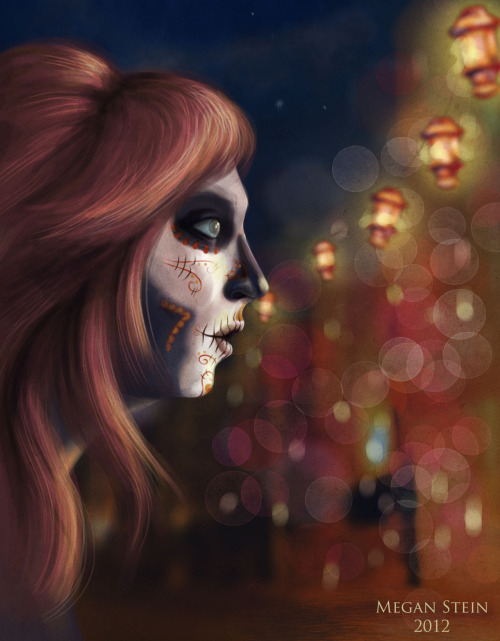 Rework of my Sugar Skull Girl for Media Portfolio. I'm pretty happy with the turn out and I added a paper texture, which I'm iffy on, but we'll see. At the drink and draw tomorrow I'll get some opinions :)