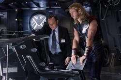 New Promotional Still from The Avengers Featuring Agent Coulson and Thor
