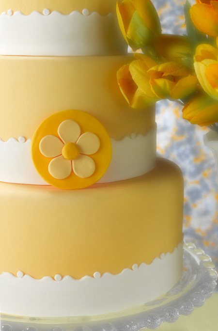 Yellow wedding cake by Sweets Bakeshop