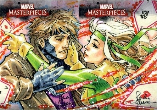 Rogue and Gambit sketchcards by Randy Green. These are very pretty. There is no way in hell they're $1600 worth of pretty, sorry. (click for ebay link).