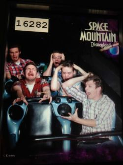 If you ever end up on Space Mountain with only 5 people, you have to do the 'lost in space'  This is genius.