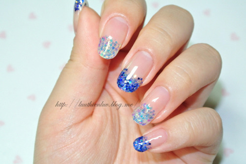 glitter gel nailart