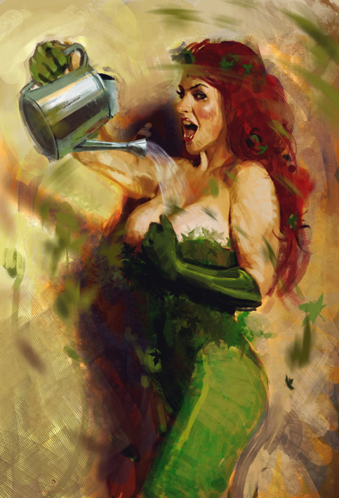 POISON IVY SKETCH by ~nachomolina
