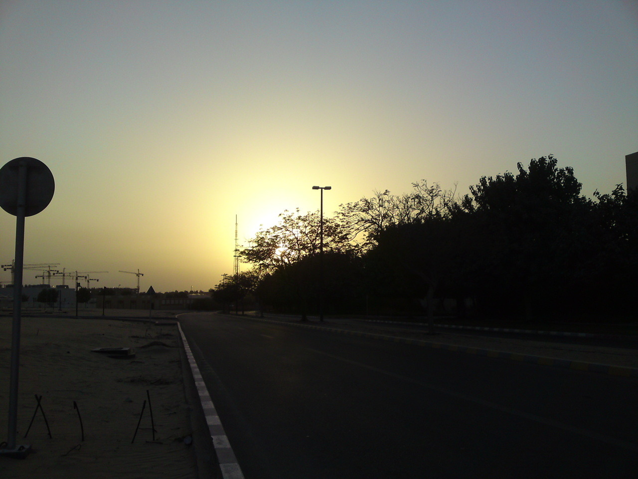 Sunset in Ruwais.