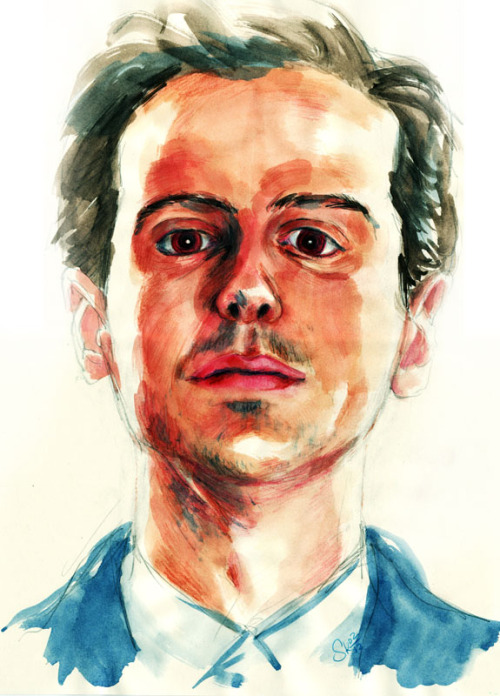 Have a quick pic of Andrew Scott. I tried to bring up the mad side of Moriarty.